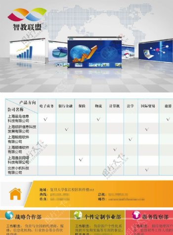 机构介绍单页机构宣传彩页图片