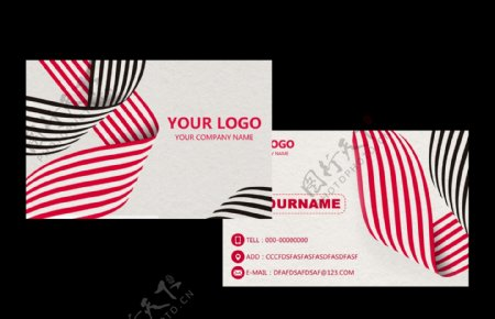 线条简约纹理名片卡片素材图片