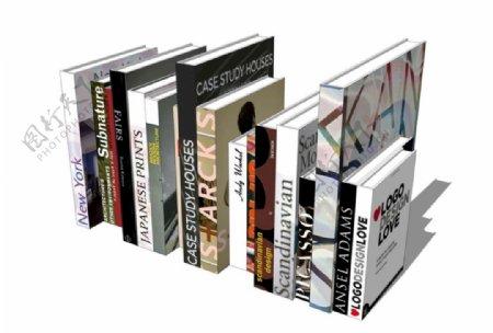 书籍摆设SU模型I图片
