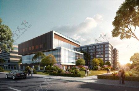 厂房工业园区建筑景观效果图图片