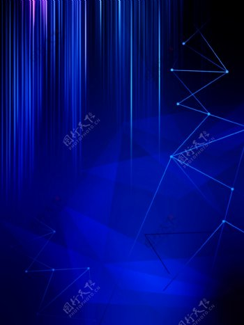 科技流光线条激光电子图片