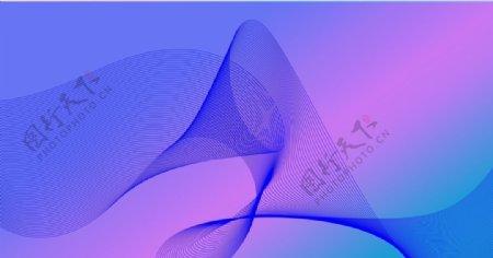 抽象波浪线紫色背景图片