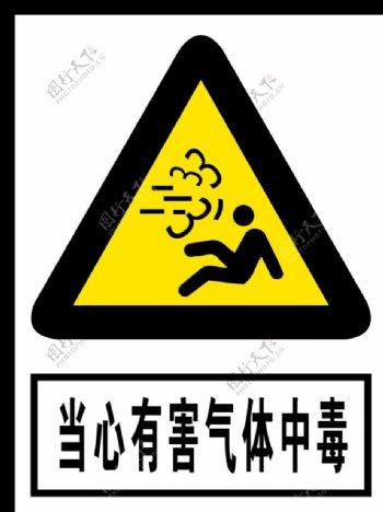 当心有害气体中毒图片