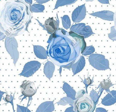 蓝玫瑰无缝背景图片