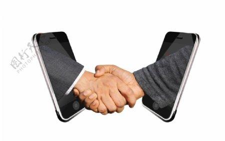 握手安排合同图片