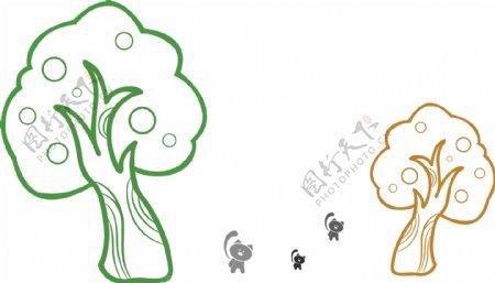 大树小动物图片
