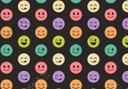 矢量笑脸背景元素图片