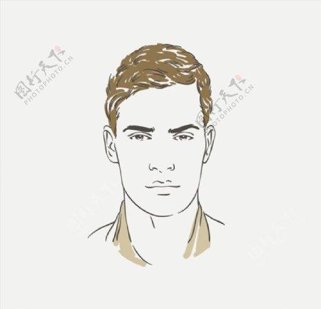 男性素描人物图片