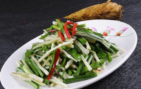 豫菜韭菜炒野竹笋图片