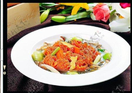 豫菜野山菌浸珊瑚蚌图片