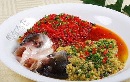 豫菜鸳鸯鱼头图片