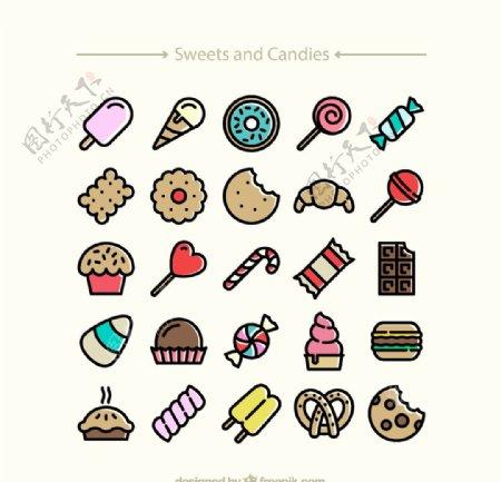 精致甜食图标图片
