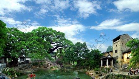 广西贺州黄姚古镇旅游摄影图图片