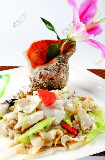 特色菜油爆大海螺图片