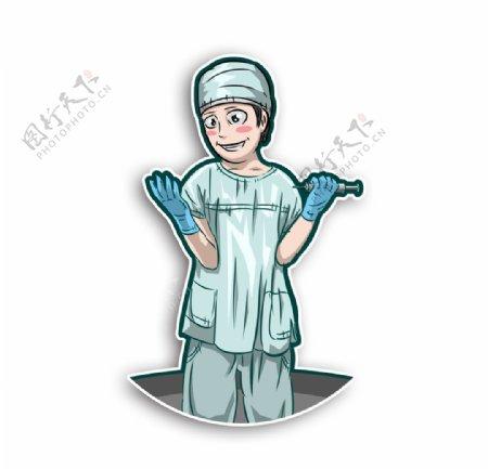 医生大夫医护工作者打针做手术麻图片