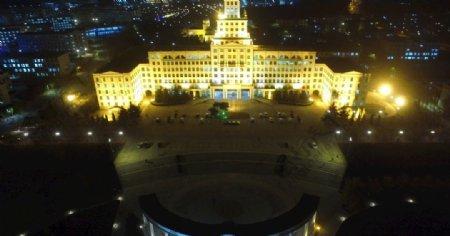 哈尔滨工业大学威海主楼夜景图片