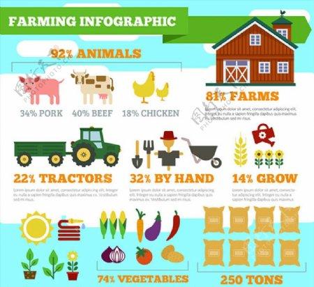 农场信息图矢量图图片