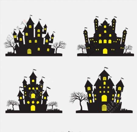 万圣节恐怖城堡图片