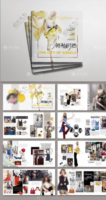 创意风欧美时尚潮流画册图片