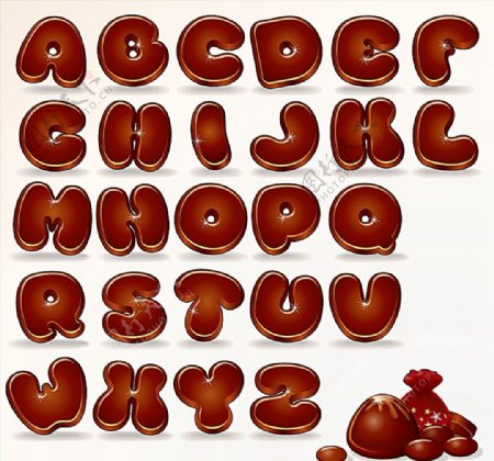 可爱的卡通字母图片