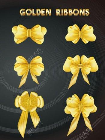 金色蝴蝶结矢量图片