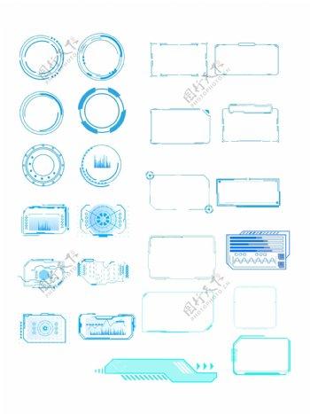 科技感边框元素图片
