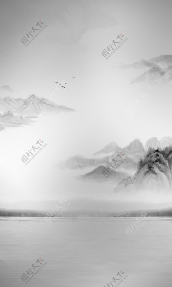 意境山水画图片