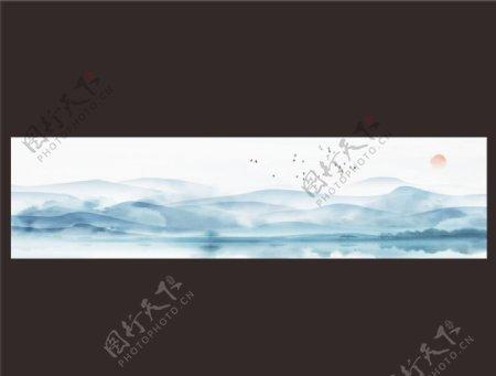 山水背景画图片