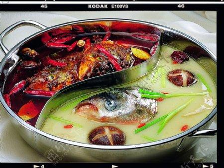 鸳鸯鱼头火锅图片