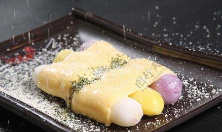 日韩料理芝士年糕图片
