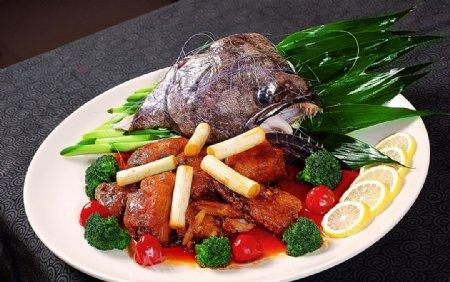 特色干烧俄罗斯鱼头图片