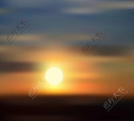 天边日落风景图片