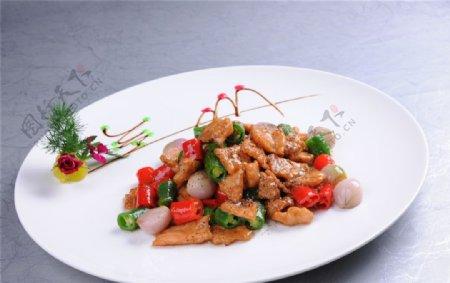黑椒孔雀肉图片
