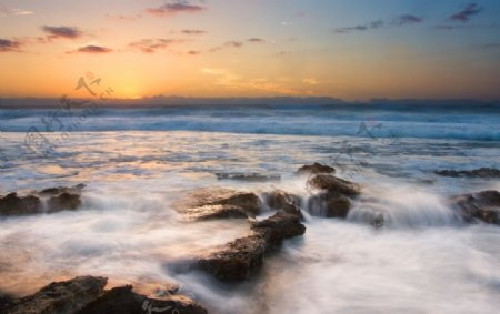 河流山水风景图片