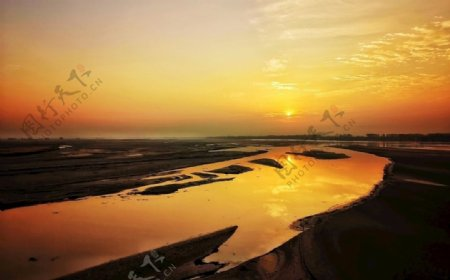 黄河日出之美景图片