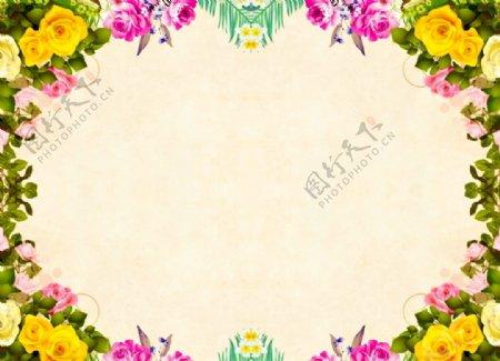 花的背景纸玫瑰图片