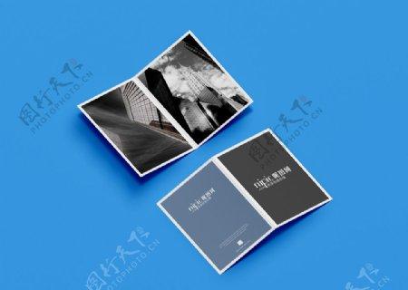 单页对折样机图片