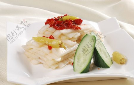 徽菜姜丝辣白菜图片