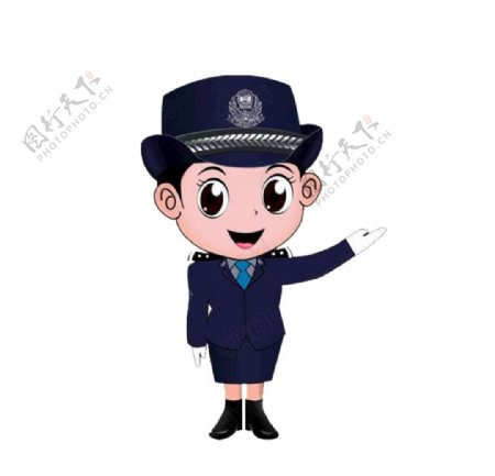 女警察图片
