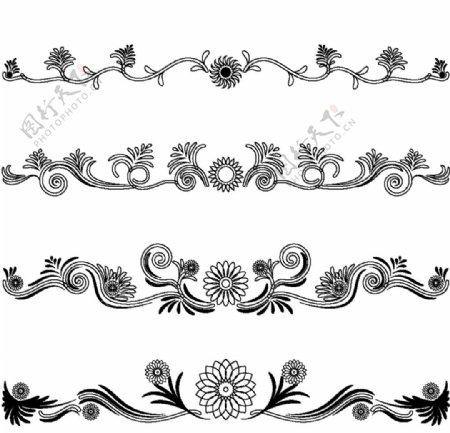 欧式花纹装饰图片