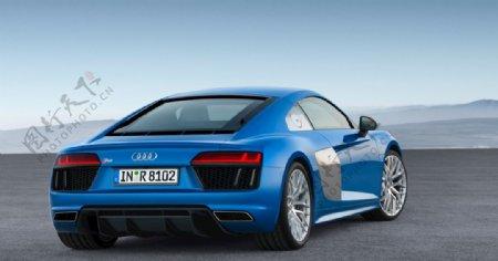 奥迪R8蓝色跑车图片