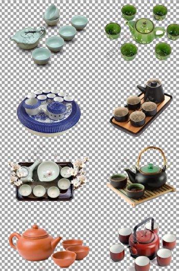 陶瓷花纹茶具图片