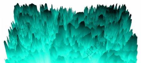 梦幻抽象青色山峰图片