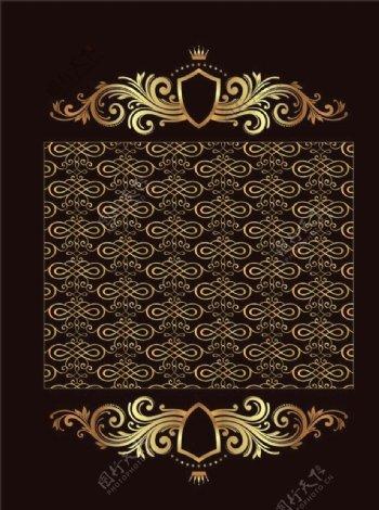 欧式花纹底纹皇冠古典图片