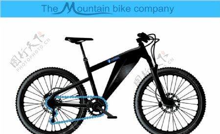 3D自行车矢量图片