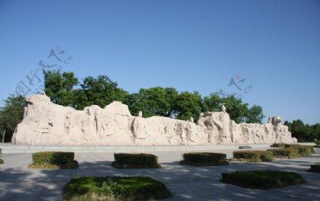 韩城司马迁祠墓广场雕像图片