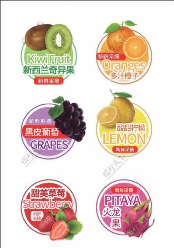 水果打包盒贴纸图片