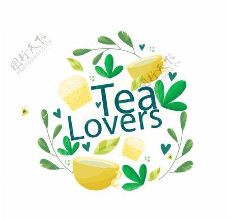 秋季养生黄色茶杯图片