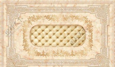 欧式花纹豪华大理石瓷砖电视背景图片