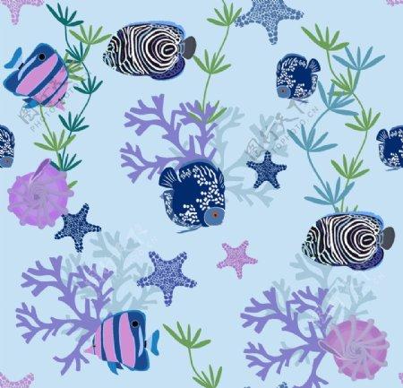 海草海洋海底世界各种鱼图片